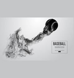 abstract silhouette of a baseball ball vector image
