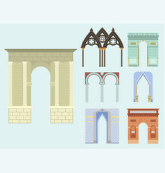 arch architecture construction frame column vector image