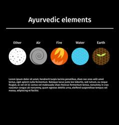 Ayurvedic elements vector