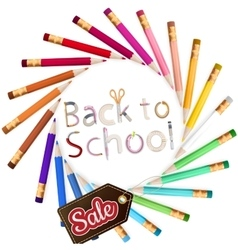 Back to school sale eps 10 vector