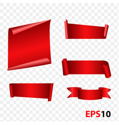 banner badge ribbon set vector image