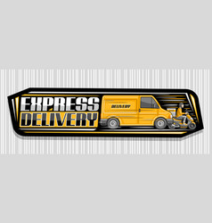 banner for express delivery vector image