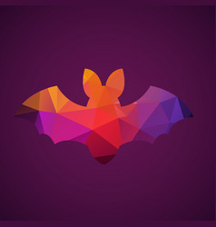 bat of triangles vector image