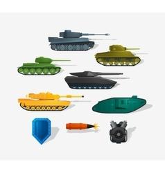 Battle tanks vector
