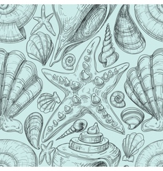 Beach seamless pattern vector image