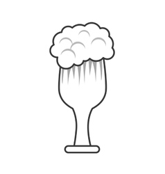 Beer glass alcohol design vector