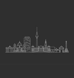 berlin skyline vector image