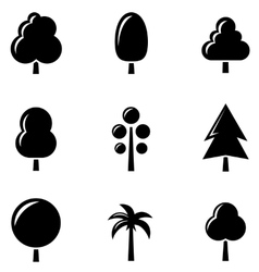 black tree set vector image