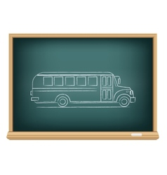 board school bus side view vector image