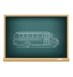 Board school bus side view vector