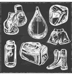 Boxing digital design vector image