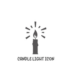 candle light icon simple flat style vector image