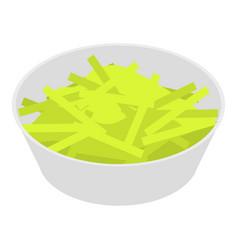 celery salad icon isometric style vector image