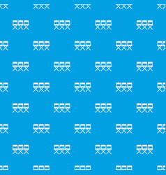 chairs pattern seamless blue vector image