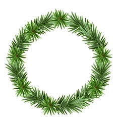 Christmas frame spruce branches vector