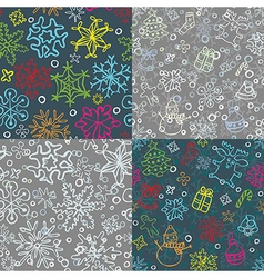 christmas pattern set vector image