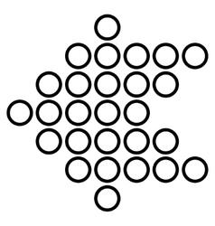 Circle Arrow Left Stroke Icon vector