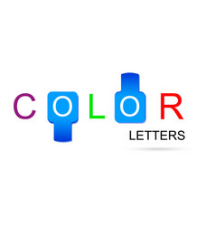 colorful letters with inserts in the form of vector image