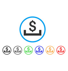 Deposit placement rounded icon vector