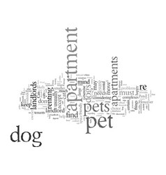 Do pets and apartments mix vector