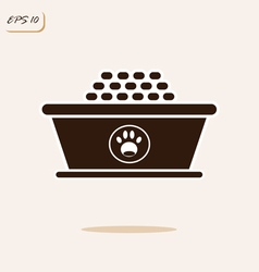 dry food in a bowl for pets vector image