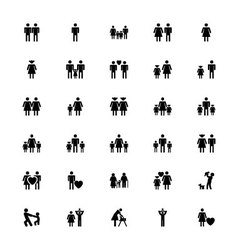 Family and Human Icons 1 vector image