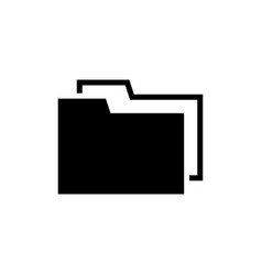 file folder documents storage flat icon vector image