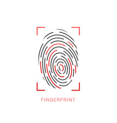 Fingerprint icon cyber security concept digital vector
