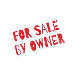 for sale by owner rubber stamp vector image