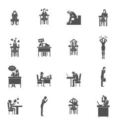 Frustration Icons Set vector