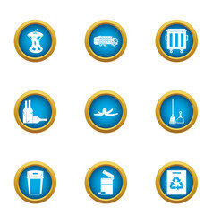 garb icons set flat style vector image