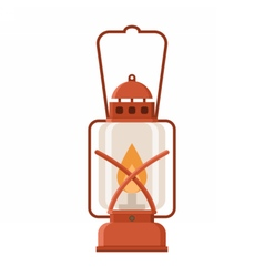 Glowing Camping Lantern vector