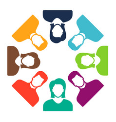 group of people icon team symbol communication vector image