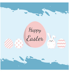 happy easter eggs blue paint color background vect vector image