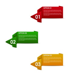 horizontal paper options vector image