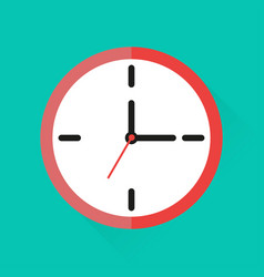 icon clock in flat style vector image