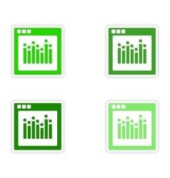 Icon sticker realistic design on paper charts vector