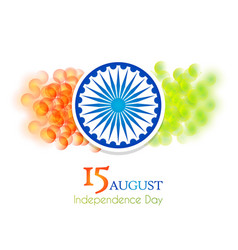 Indian 15th august independence day vector
