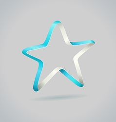 Infinite ribbon five star template vector image