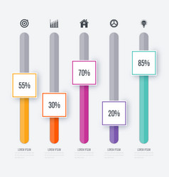 infographic five options vector image