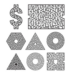 labyrinth maze symbol shape vector image