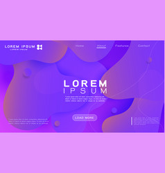 landing page template with fluid shapes vector image