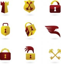 locks vector image