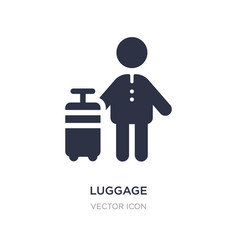 Luggage icon on white background simple element vector