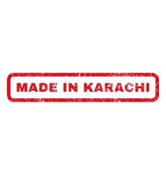 Made In Karachi Rubber Stamp vector