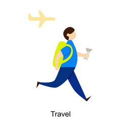 man travel vector image