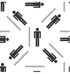 Measuring height body icon seamless pattern vector