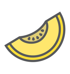Melon line icon fruit and diet graphics vector