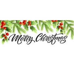 merry christmas and happy new year banner design vector image