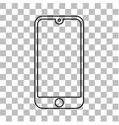 Mobile phone with a blank screen and flat style vector